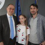 Bianca,tatal ei și Daniel Băluță